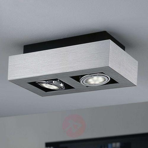 Eglo Plafon lampa sufitowa loke 1 91353 natynkowa oprawa metalowa ip20 prostokąt chrom (9002759913533)