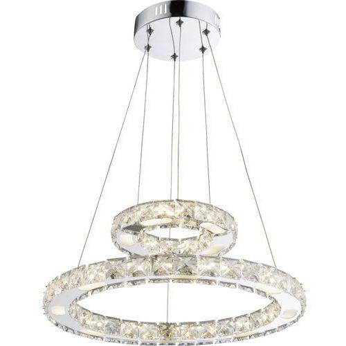 Lampa wisząca Globo Marilyn I 67037-24AA lampa sufitowa zwis 1x24W LED chrom, 67037-24AA
