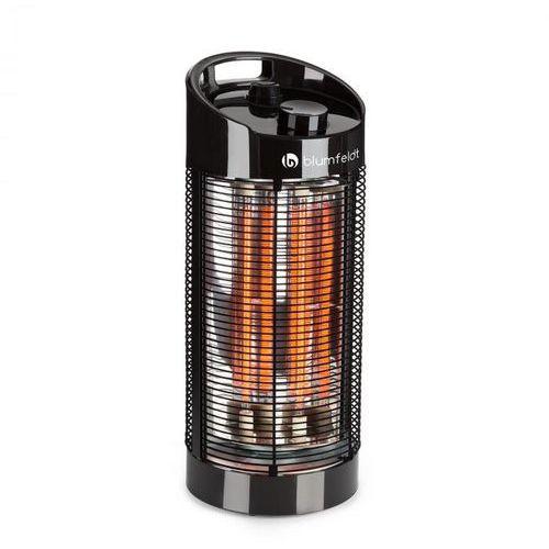 heat guru 360 stojący grzejnik promiennikowy 1200/600 w 2 stopnie grzewcze ipx4 kolor czarny marki Blumfeldt