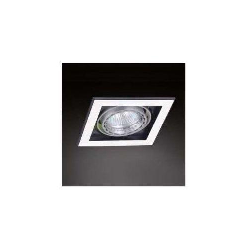 Oczko LAMPA sufitowa QUATRO I BIANCO Orlicki Design wpuszczana OPRAWA podtynkowa SPOT metalowy biały, kolor Biały