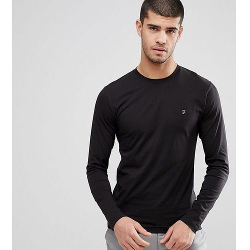 t-shirt with f logo slim fit exclusive long sleeves - black marki Farah