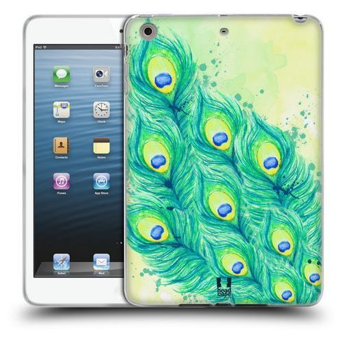 Etui silikonowe na tablet - Peacock Feathers BLUE GREEN AND YELLOW, kolor zielony