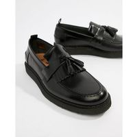 george cox tassle leather loafers in black - black marki Fred perry