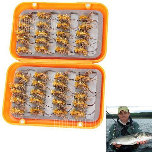 40 PCS New Design Fly Fishing Flies Hooks Fly Fishing Lures Kit with Hook - produkt z kategorii- Pozostałe wędkarstwo