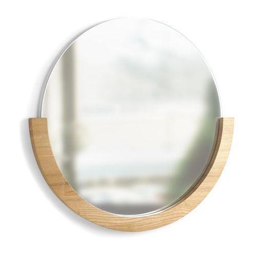 Umbra - lustro okrągłe mira - drewno naturalne