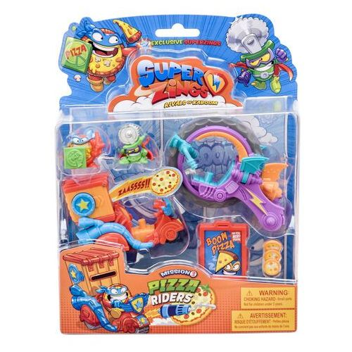 superzings seria 3 pizza riders mission 2 figurki 2 pojazdy marki Magic box