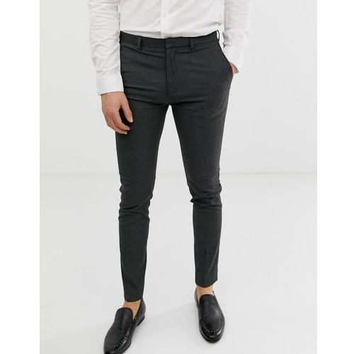 Burton menswear super skinny fit smart trousers in grey - grey