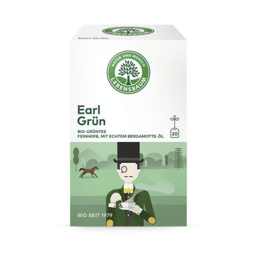 Lebensbaum (przyprawy, herbaty, kawy) Herbata zielona earl grey ekspresowa bio (20 x 1,5 g) - lebensbaum (4012346206103)