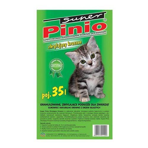 CERTECH Żwirek Super Pinio Kruszon Naturalny - żwirek dla kota drewniany zbrylający 5l, KBEN004