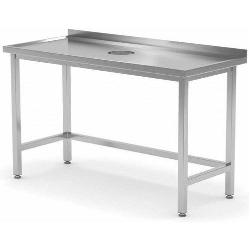 Stół Przyścienny z Otworem na Odpadki szer:800-1900mm gł.700mm