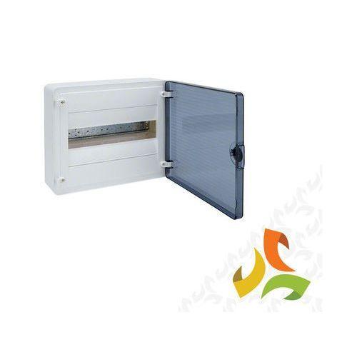 Hager Rozdzielnica,rozdzielnia elektryczna 12 modułów natynkowa tworzywo, drzwi transparentne  vs112td (3250616593077)