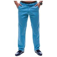 Spodnie chinosy męskie błękitne Denley 6188, kolor niebieski