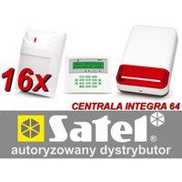 Satel Zestaw alarmowy integra 64, klawiatura lcd, 16 czujników ruchu, sygnalizator zewnętrzny sp-500, powiadomienie gsm