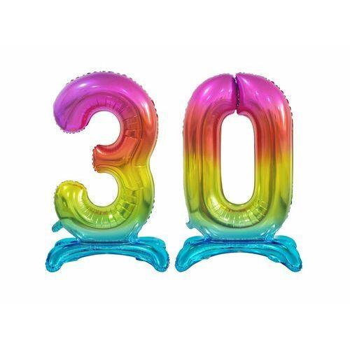 Zestaw balonów foliowych 30 tęczowa - 74 cm marki Godan