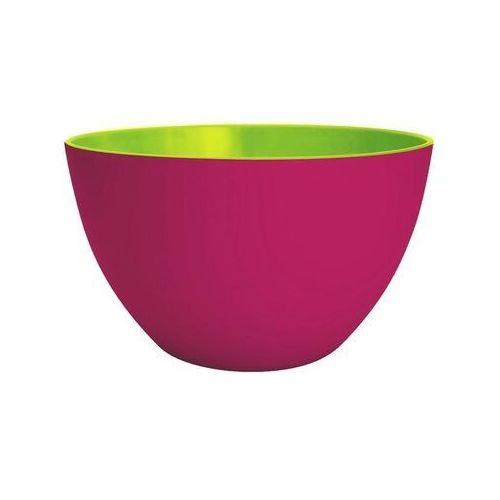 Zak! designs - miska dwukolorowa - różowo - zielona - mała