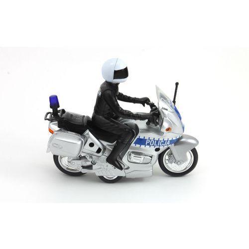 Dickie Toys Policja Motocykl policyjny Motor SOS 15 cm - polska wersja językowa i kolorystyczna