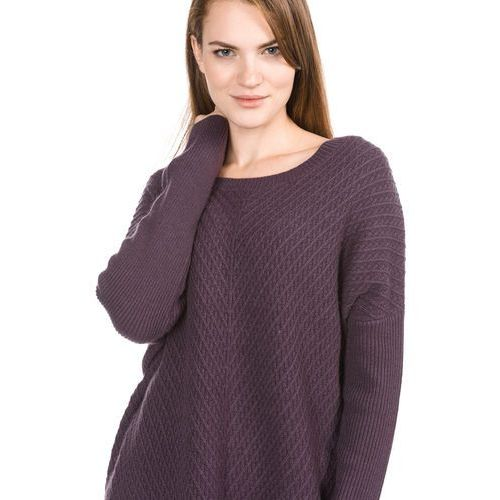 Selected Femme SFRILLE WIDE ONECK Sweter plum perfect