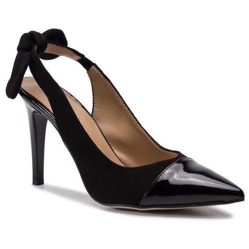Sandały - 3578 czarny lakier/czarny welur marki Sagan