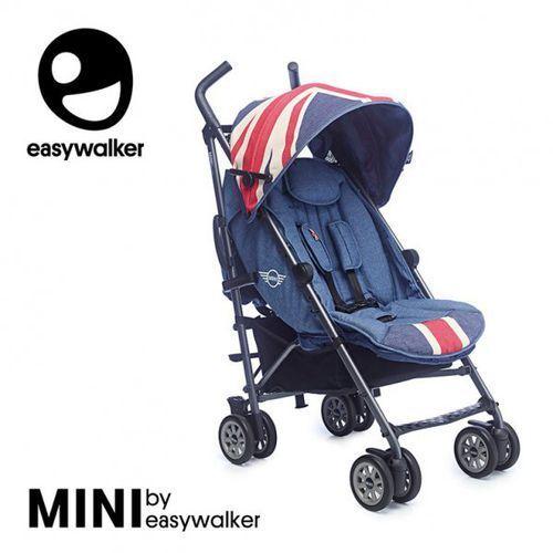Easywalker Mini by wózek spacerowy z osłonką przeciwdeszczową 6,5kg union jack vintage
