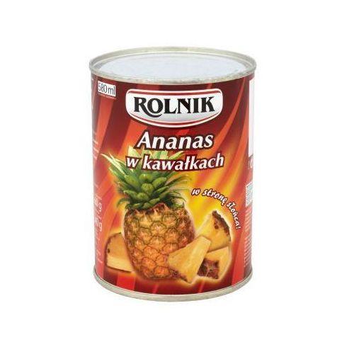 Ananas w puszce kawałki 580 ml Rolnik (5900919004913)