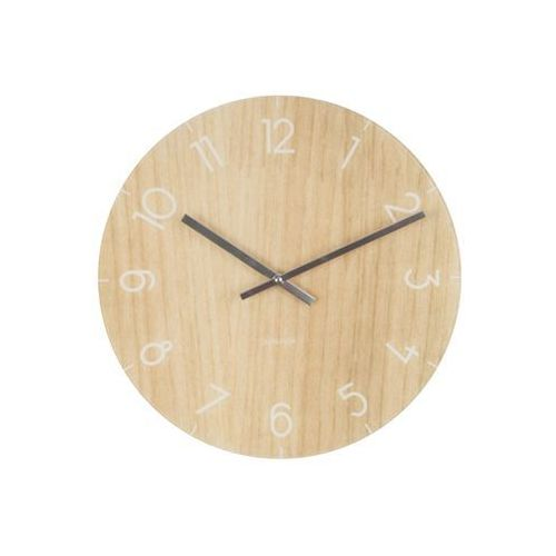 Zegar stołowo-ścienny Glass Clock light wood by Karlsson, KA5617WD