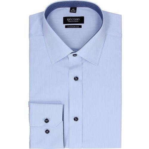 Recman Koszula bexley 2496 długi rękaw custom fit niebieski