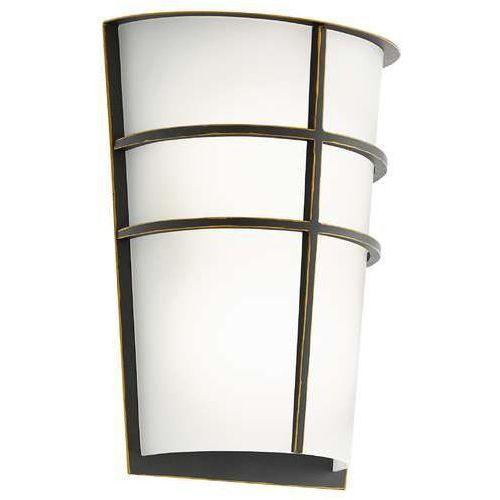 Kinkiet breganzo 96269 lampa ścienna 2x2,5w led brąz marki Eglo