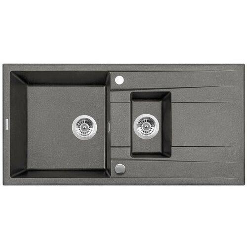 zqe_t513 zlew.eridan antracyt metalik granit 1,5k z/o 1000x500x208+space saver - nowość marki Deante