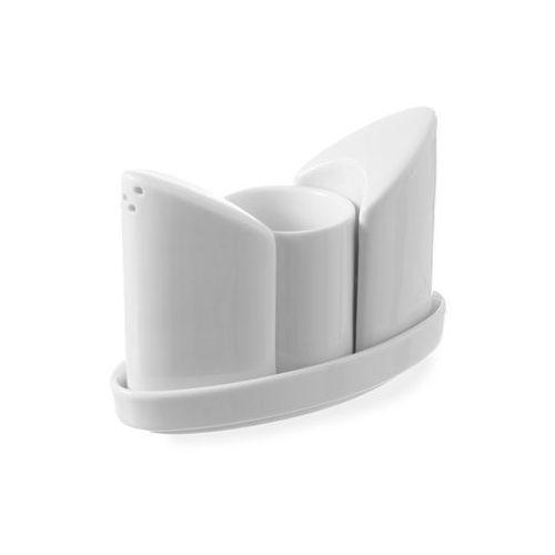 Zestaw do przypraw: solniczka, pieprzniczka, pojemnik na wykałaczki. | , 786420 marki Hendi
