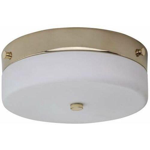 LAMPA sufitowa TAMAR/F/M PG Elstead szklana OPRAWA plafon okrągły do łazienki IP44 polerowane złoto biały, TAMAR/F/M PG