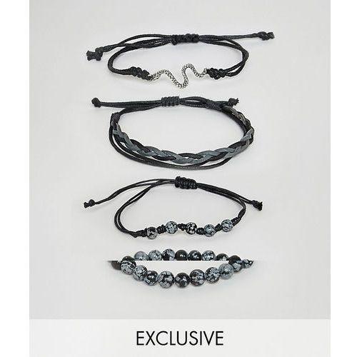 inspired bracelet pack in black exclusive at asos - black marki Reclaimed vintage