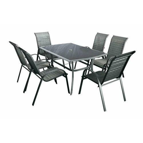 Hecht czechy Hecht honey set 6 meble ogrodowe zestaw mebli ogrodowych stół + 6 krzeseł aluminium szkło - ewimax oficjalny dystrybutor - autoryzowany dealer hecht (8595614902373)
