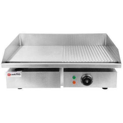 Soda pluss Płyta grillowa elektryczna gładka cookpro | 50-300 °c | 3000w | 230v | 540x430x(h)230mm