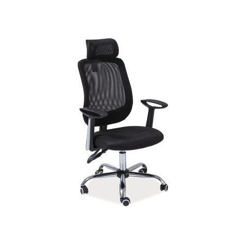 Fotel obrotowy, krzesło biurowe q-118 black marki Signal