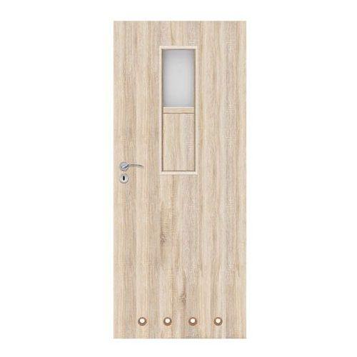 Drzwi z tulejami Olga 80 prawe dąb sonoma