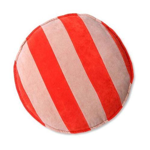 poduszka do siedzenia okrągła w paski czerwono-różowe (60ø) tku2127 marki Hkliving