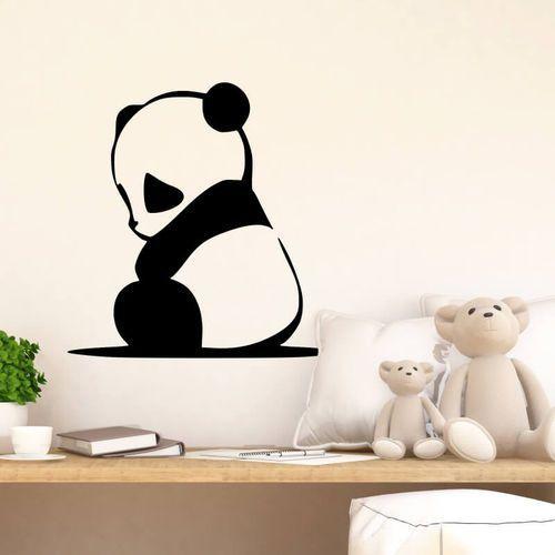 Wally - piękno dekoracji Naklejka na ścianę niedźwiadek panda 2398