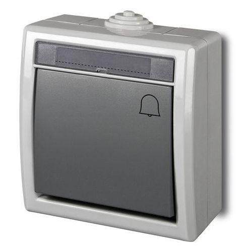 """Elektro-plast nasielsk Aquant łącznik """"dzwonek"""" szary ip55 1205-10 (5901130487776)"""