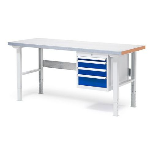 Stół warsztatowy z blatem o powierzchni stalowej 800x750x1500mm