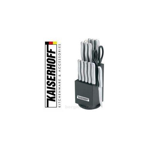 15 częściowy zestaw noży  w bloku obrotowym marki Kaiserhoff