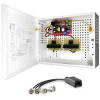 Bcs -a8/e zestaw zasilania i transmisji wideo dla 8 kamer analogowych lub hd-cvi