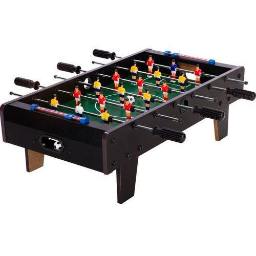 Czarna mini gra piłkarzyki 70x37x25 cm stół piłkarski - czarny marki Makstor.pl