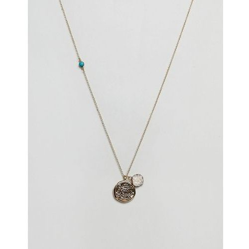 Liars & lovers disc & charm pendant - gold