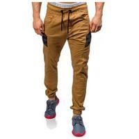 Camelowe spodnie joggery męskie Denley 0706