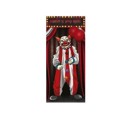 Dekoracja na drzwi klaun - 75 x 150 cm - 1 szt. marki Guirca