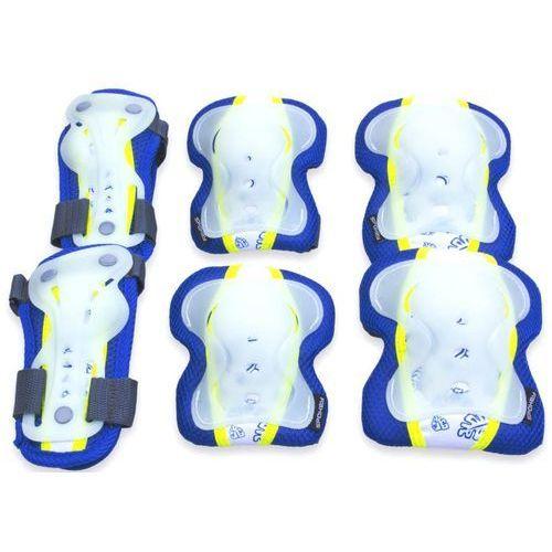 Spokey Ochraniacze dziecięce sentinel niebiesko-żółty (rozmiar l) (5902693200208)