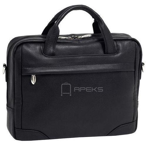 "Mcklein bronzeville skórzana torba na laptopa 15,4"" - czarny (6421541548594)"
