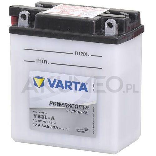 Varta Akumulator powersports yb3l-a 12v 3ah 30a prawy+ ol