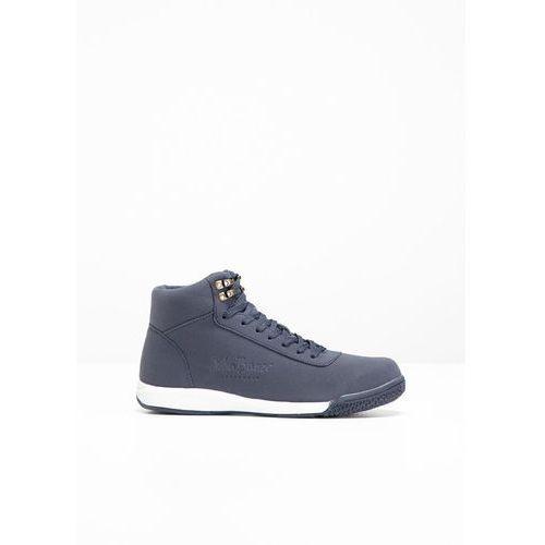 Wysokie sneakersy bonprix ciemnoniebieski, kolor niebieski