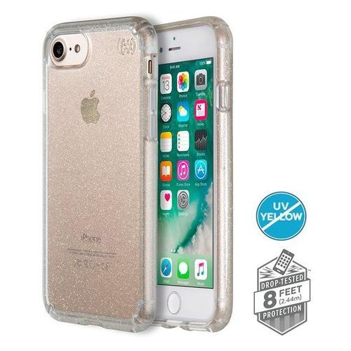 Speck  presidio clear with glitter - etui iphone 8 (gold glitter/clear)